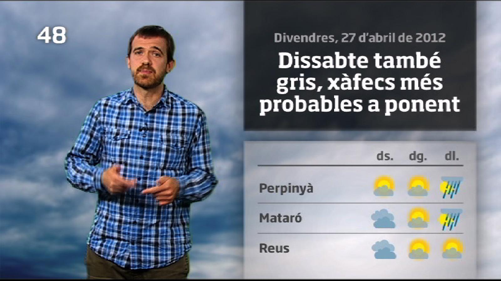 La méteo en 1 minut: previsió per al pont del primer de maig (28/04/2012)