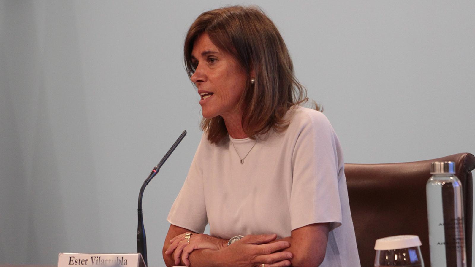 La ministra d'Educació i Ensenyament Superior, Ester Vilarrubla. / ANA