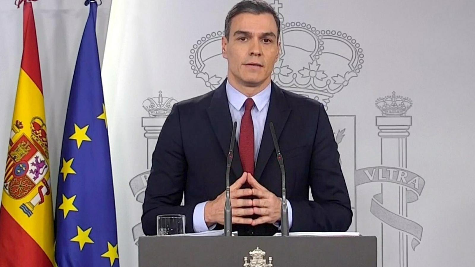 EN DIRECTE | Pedro Sánchez compareix pel coronavirus