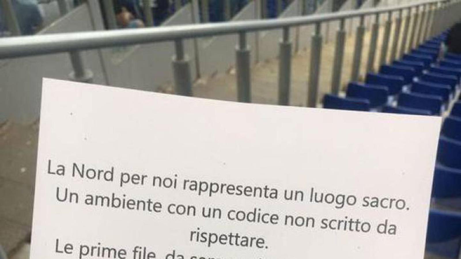 El comunicat del ultres del Lazio