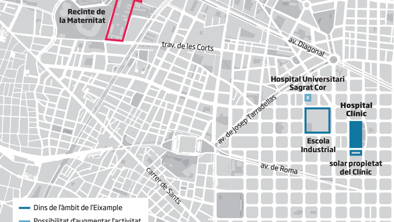Barcelona descarta un gran edifici per al Clínic a l'Escola Industrial