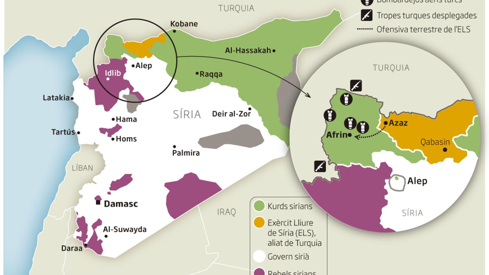 L'ofensiva turca contra Afrin que pot canviar El rumb de Síria