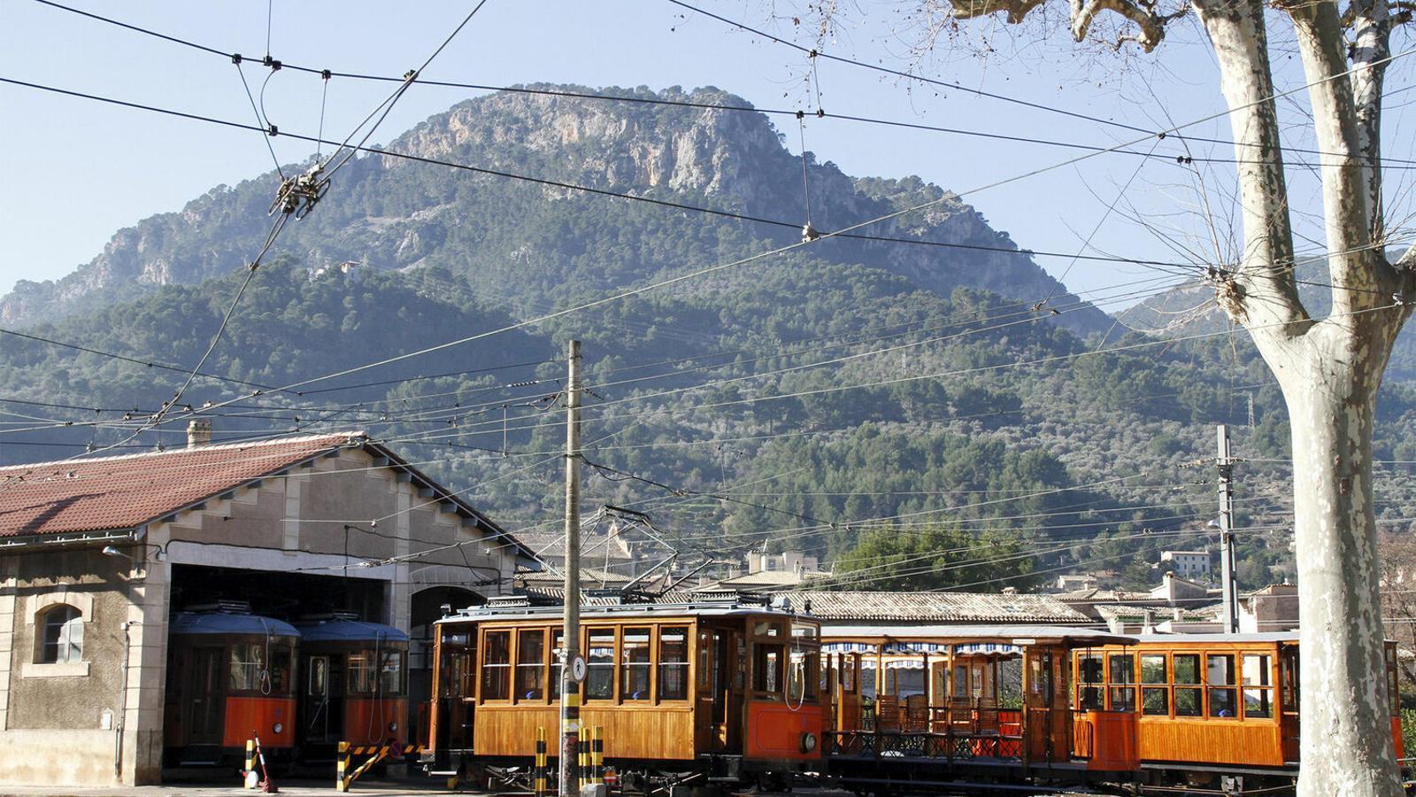 El tren de Sóller en una imatge d'arxiu