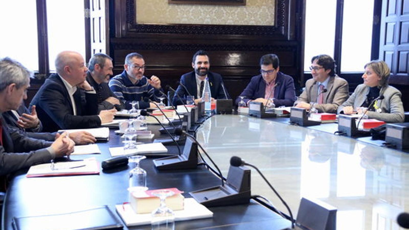 Reunió de la mesa del Parlament aquesta tarda