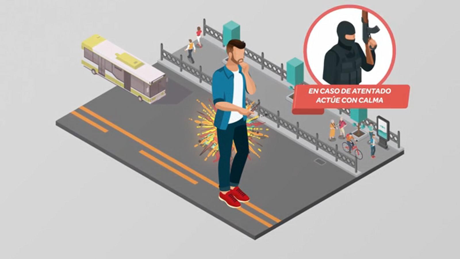 El vídeo del govern espanyol sobre què cal fer en cas d'atemptat