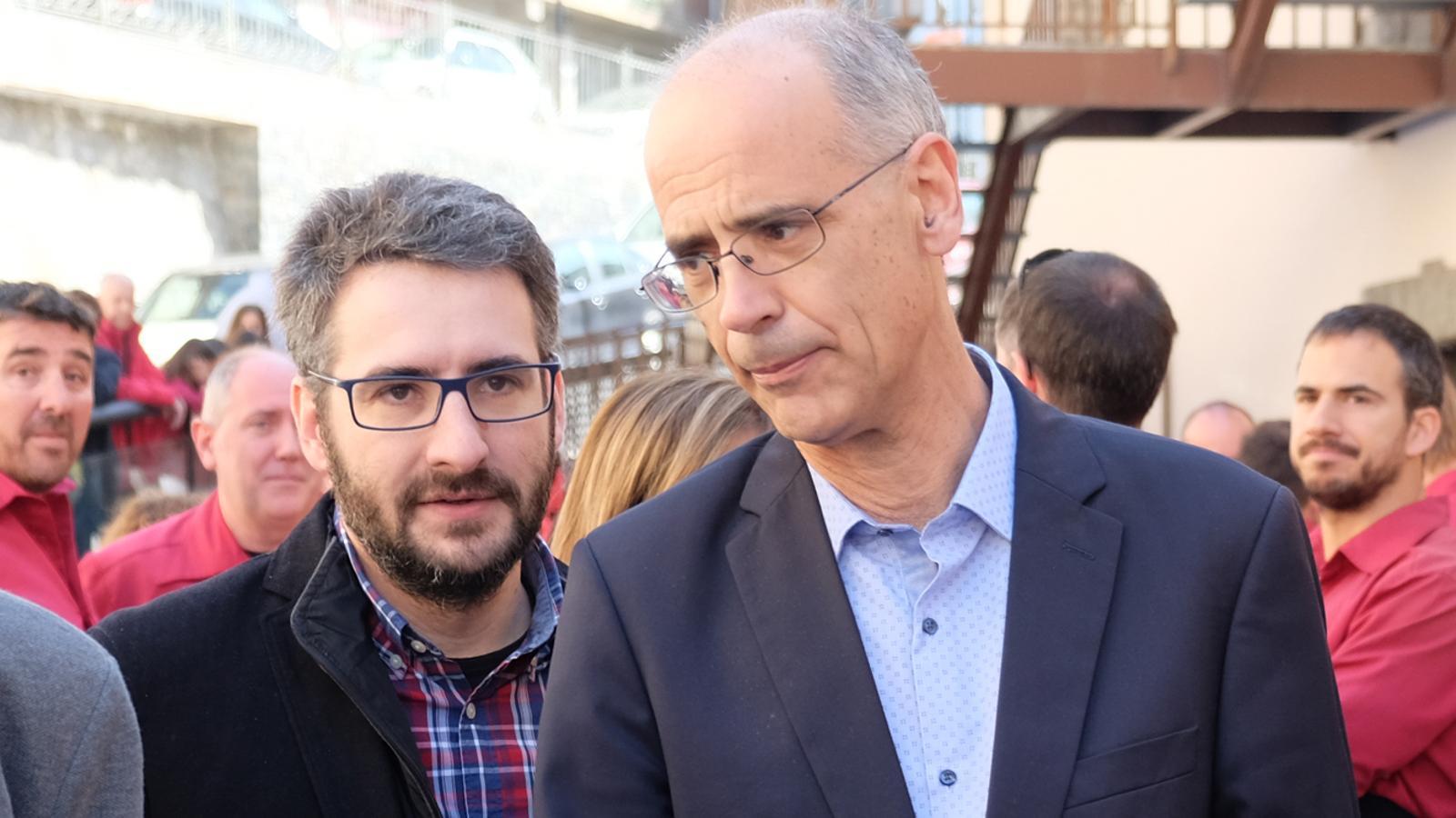 Eric Jover i Toni Martí aquest dissabte a Ciutat de Valls. / M. T. (ANA)