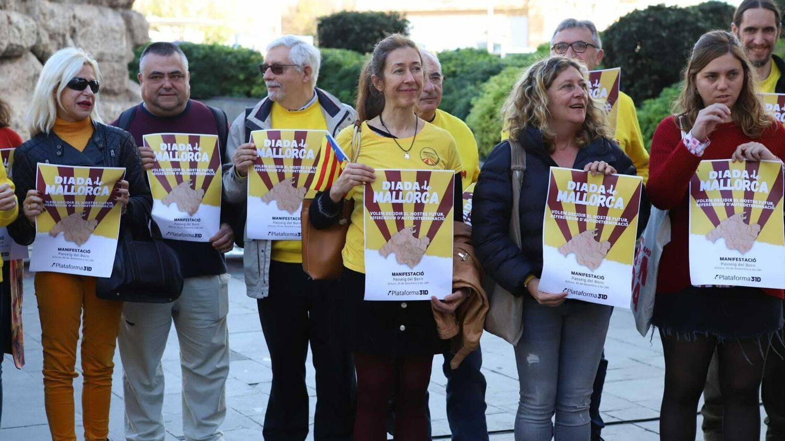 Membres i simpatitzants de l'Assemblea Sobiranista de Mallorca
