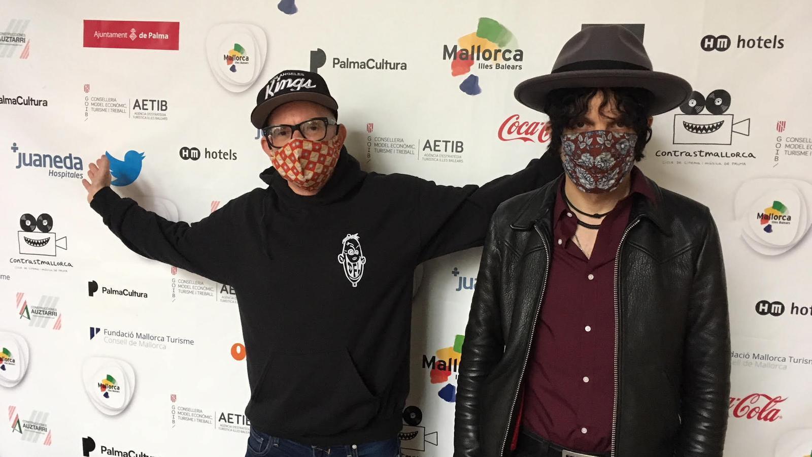 D'Estats Units a Mallorca: els virtuosos guitarristes de rock Jesse Malin i Greg Hetson arriben a Ciutat