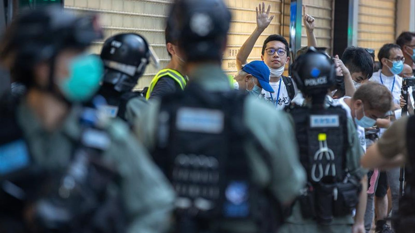 Manifestació contra la llei de seguretat xinesa diumenge passat a Hong Kong.
