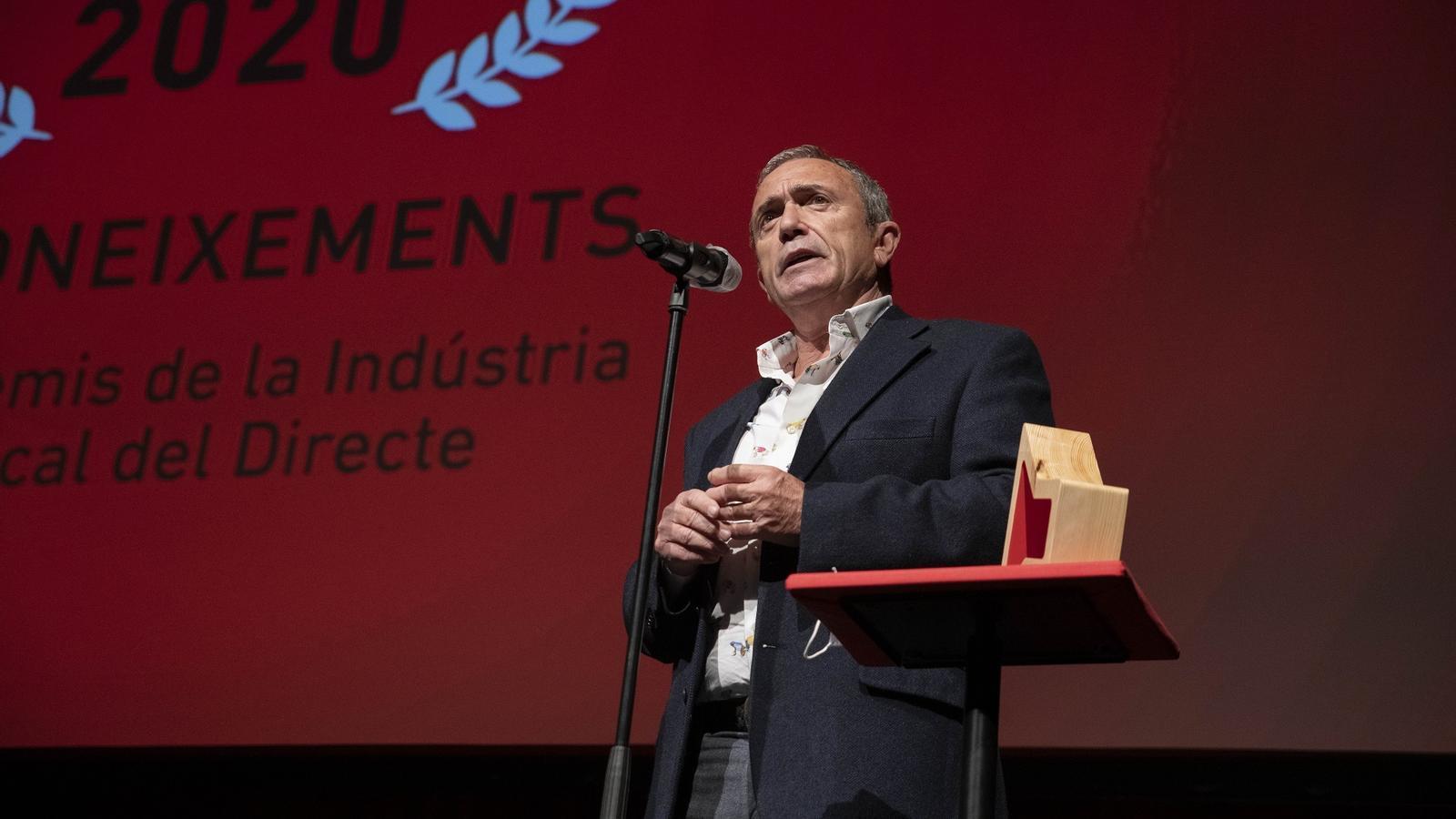 Martín Pérez amb el premi ARC a la trajectòria professional.