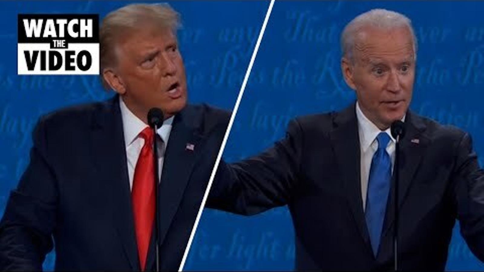 Intervenció sobre racisme en l'últim debat presidencial entre Donald Trump i Joe Biden.