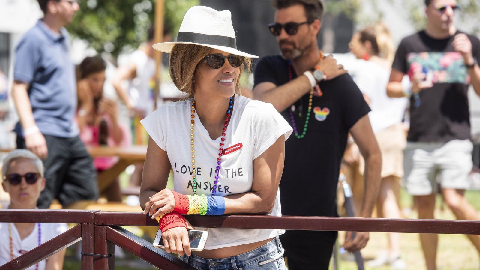Imatge del 9 de Juny del 2019 de Halle Berry a la Pride Parade de Hollywood