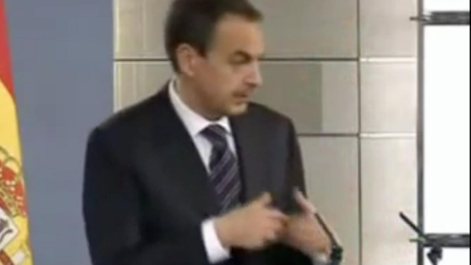 El lapsus de Zapatero: 'follar' en lloc d''apoyar'
