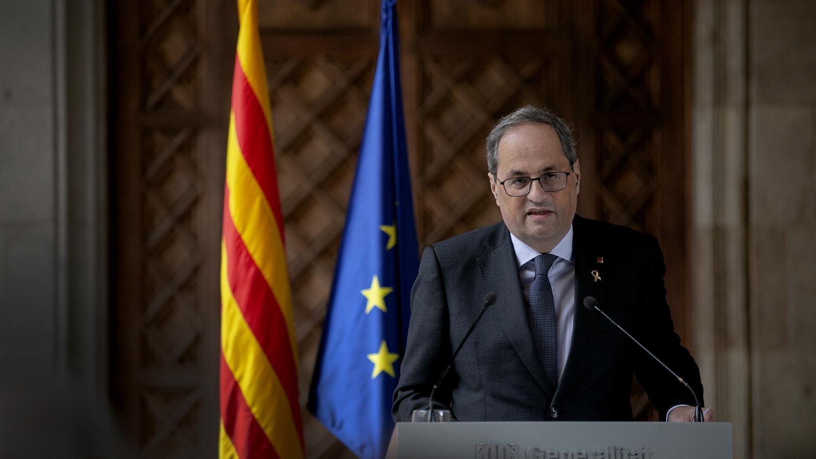 EN DIRECTE | Declaració institucional del president de la Generalitat, Quim Torra
