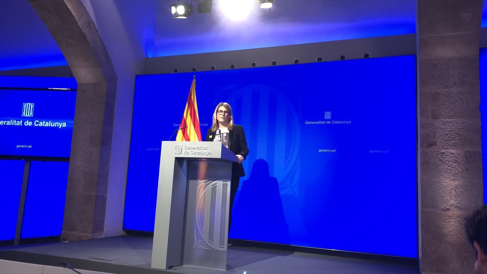 """El Govern veu una """"provocació"""" el consell de ministres a Barcelona i afirma que la gent """"té dret a protestar"""""""