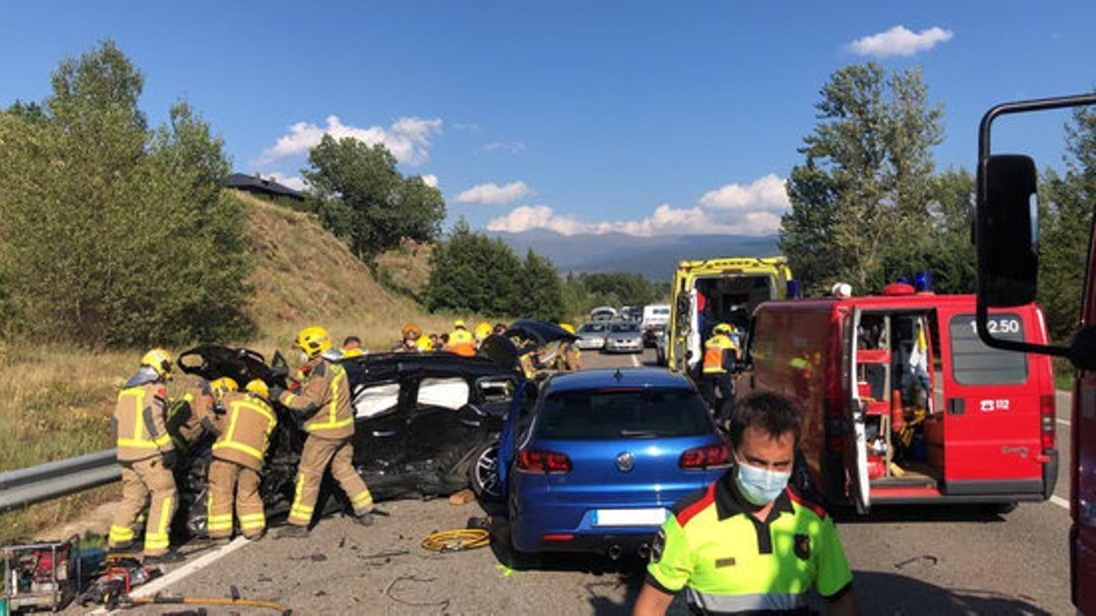 Un mort en un accident de trànsit a Ger. / SCT