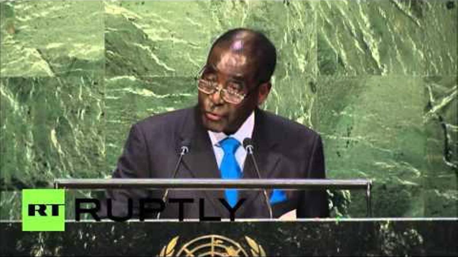 Robert Mugabe a l'ONU