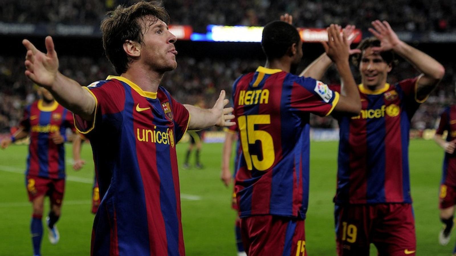 Messi ha marcat dos dels tres gols del Barça / AFP