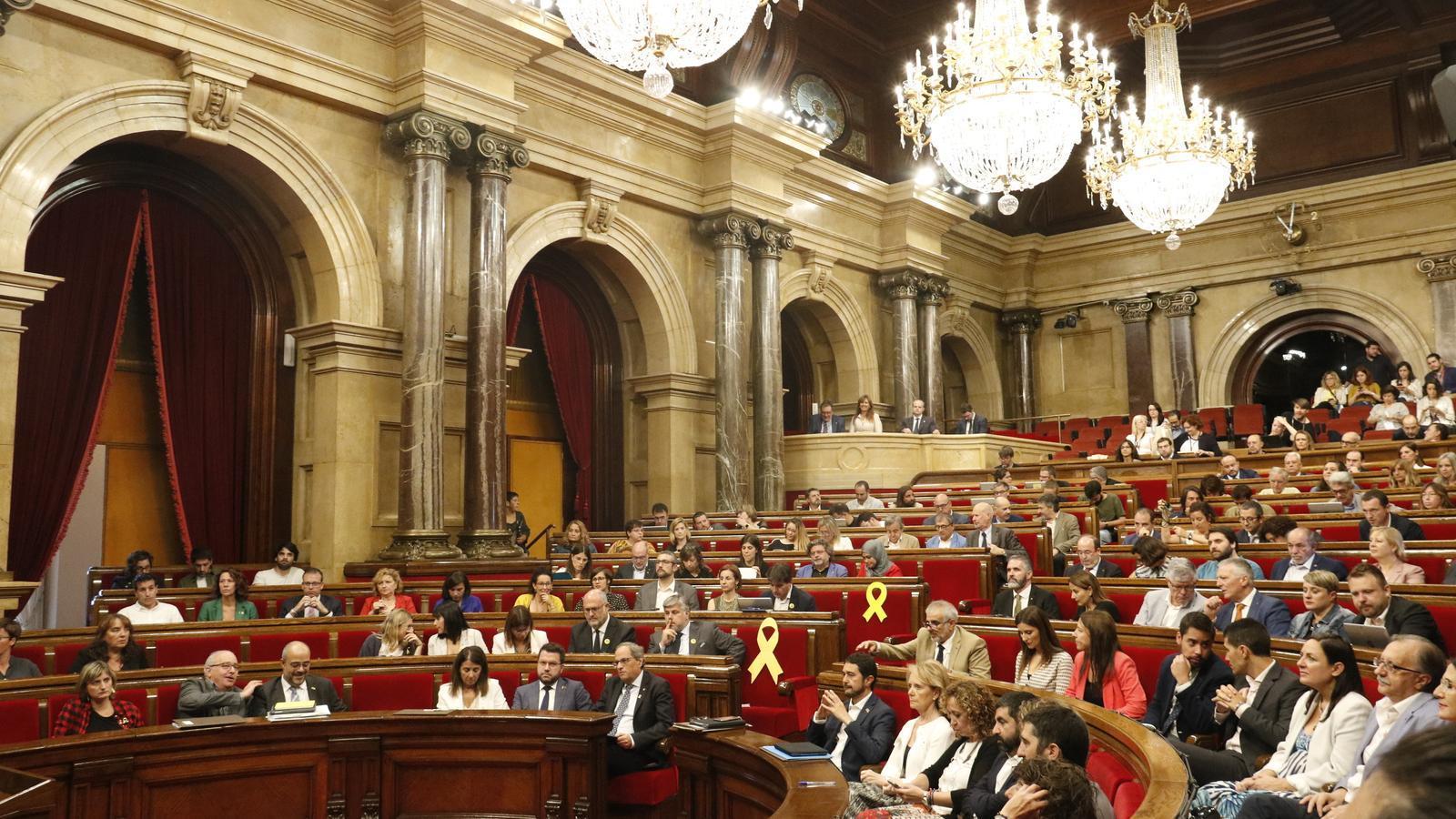 L'hemicicle del Parlament aquest dimecres, en ple debat de política general