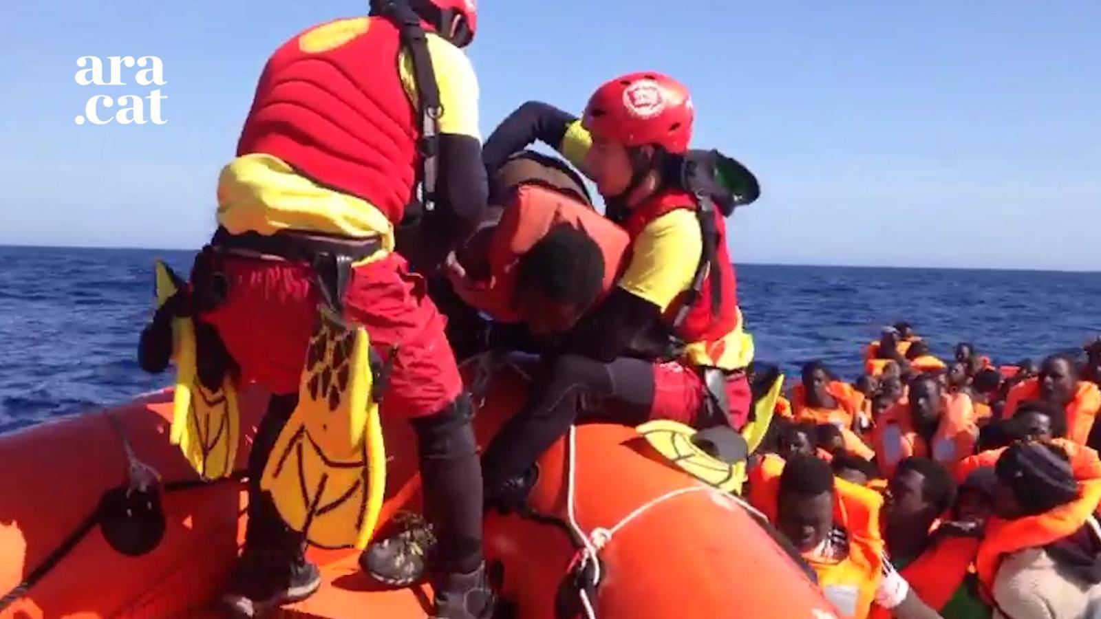 Els moments més dramàtics de l'última expedició del vaixell de rescat 'Open Arms'