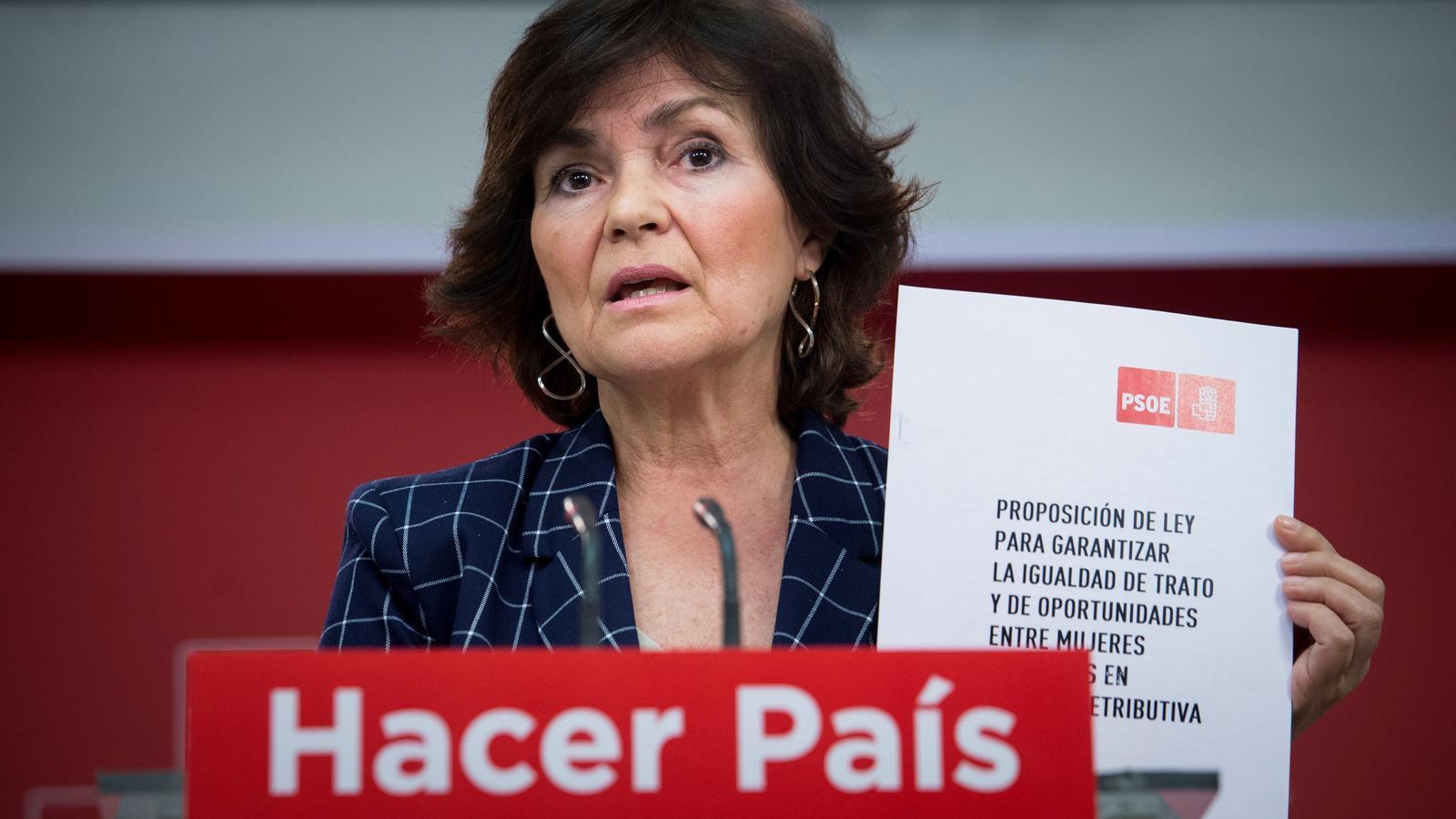 Carmen Calvo serà la vicepresidenta del govern espanyol i ministra d'Igualtat