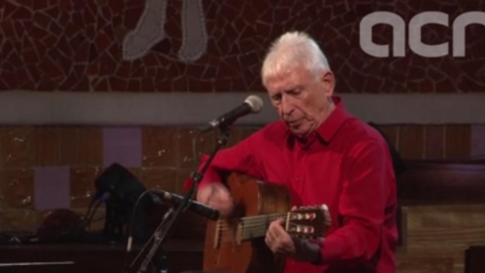 Moments de l'últim concert de Raimon, al Palau de la Música