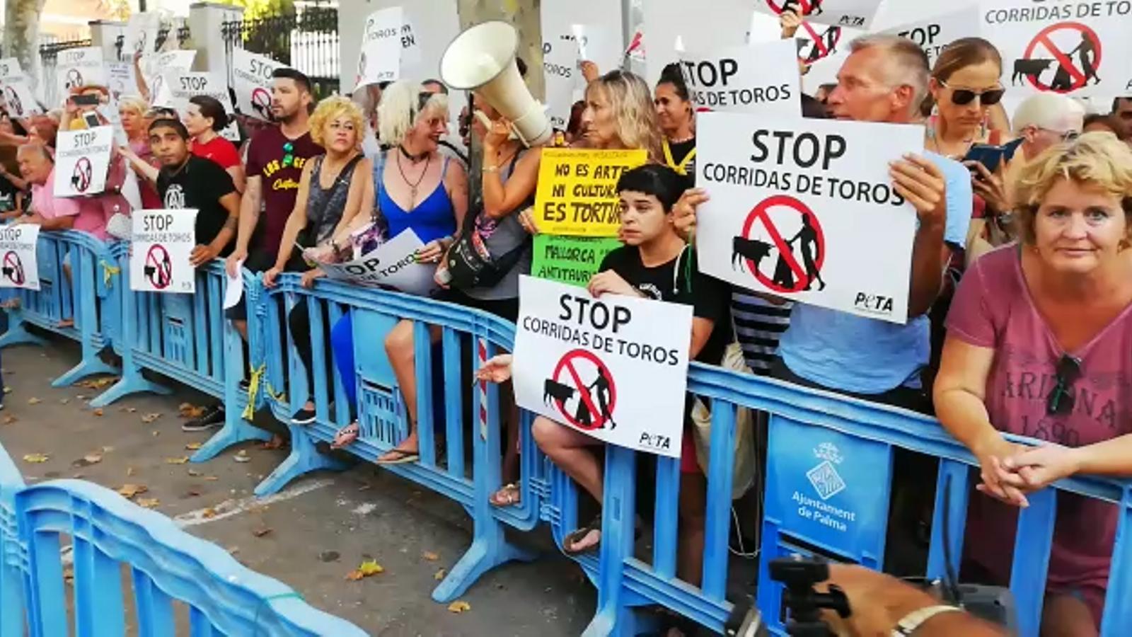 Vídeo de la concentració antitaurina de Palma