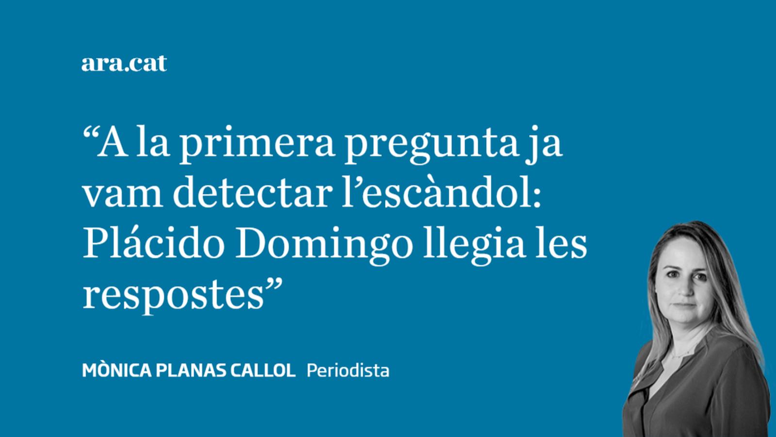 Plácido Domingo desafina amb apuntador