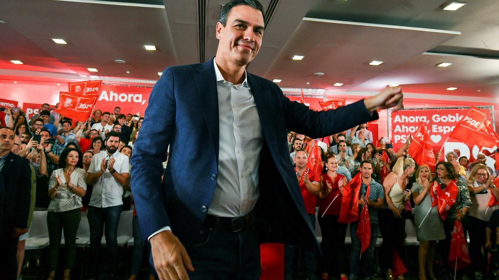 Pedro Sánchez, en un acte a Granada aquest dimarts / EFE