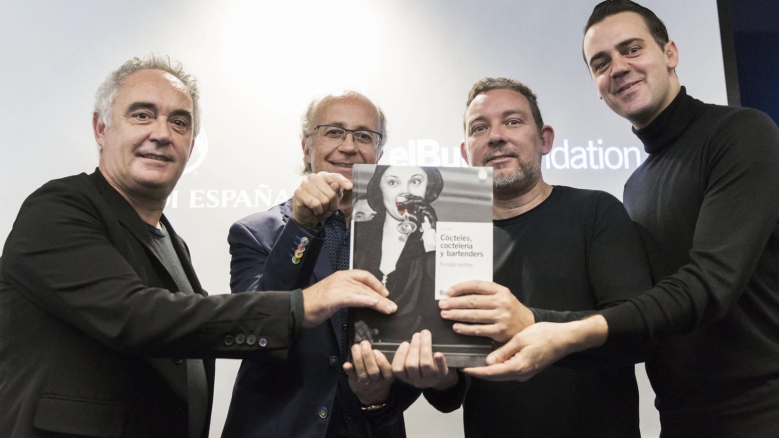 Ferran Adrià, Javier de las Muelas, Albert Adrià i Simone Caporale durant la presentació