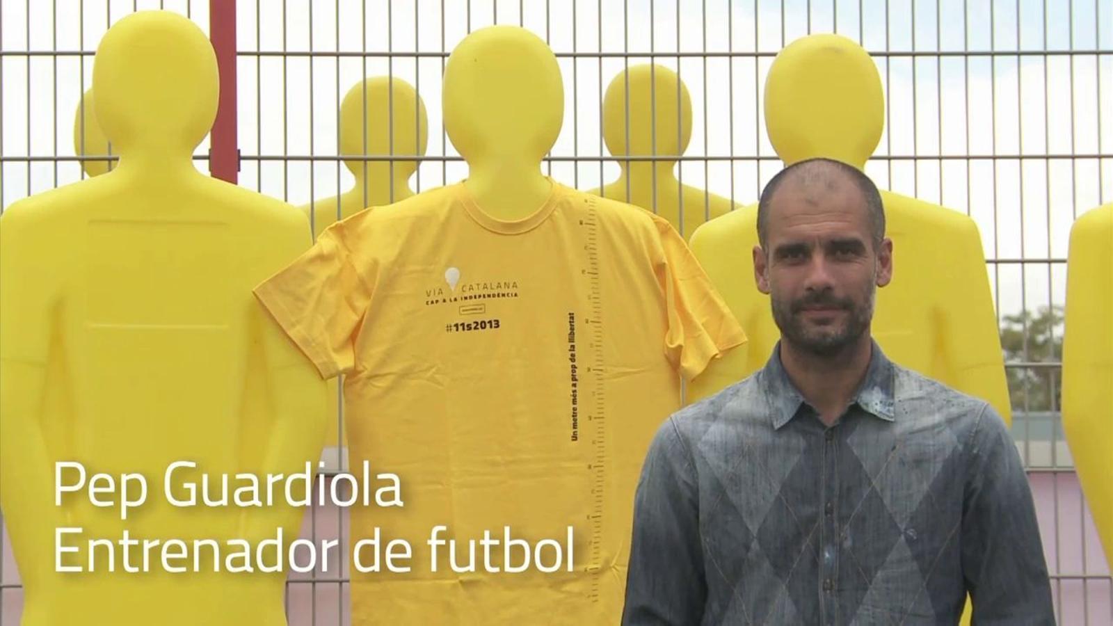 Guardiola, Dyango i Cabré donen suport a la Via Catalana