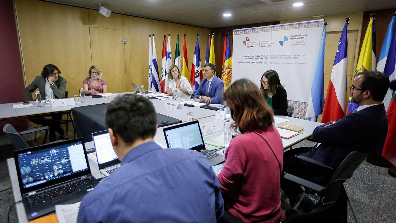 Un moment de la reunió de la Conferència de directors iberoamericans de l'aigua (Codia).