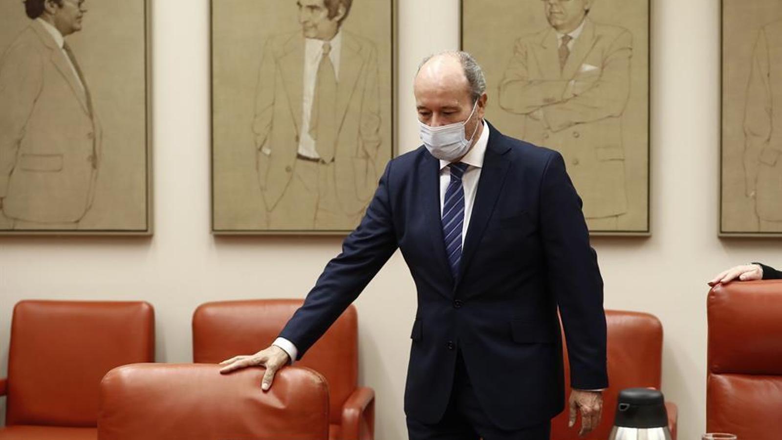 El ministre de Justícia, Juan Carlos Campo, en compareixença a la comissió del Congrés