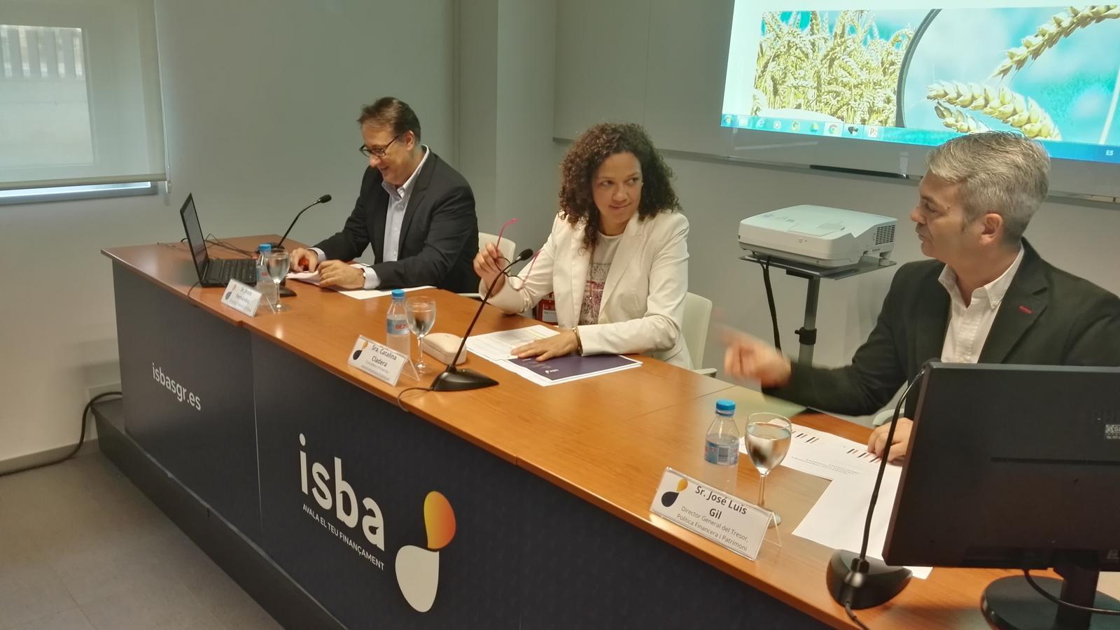 La consellera d'Hisenda, Catalina Cladera, durant la presentació dels comptes anuals d'ISBA.