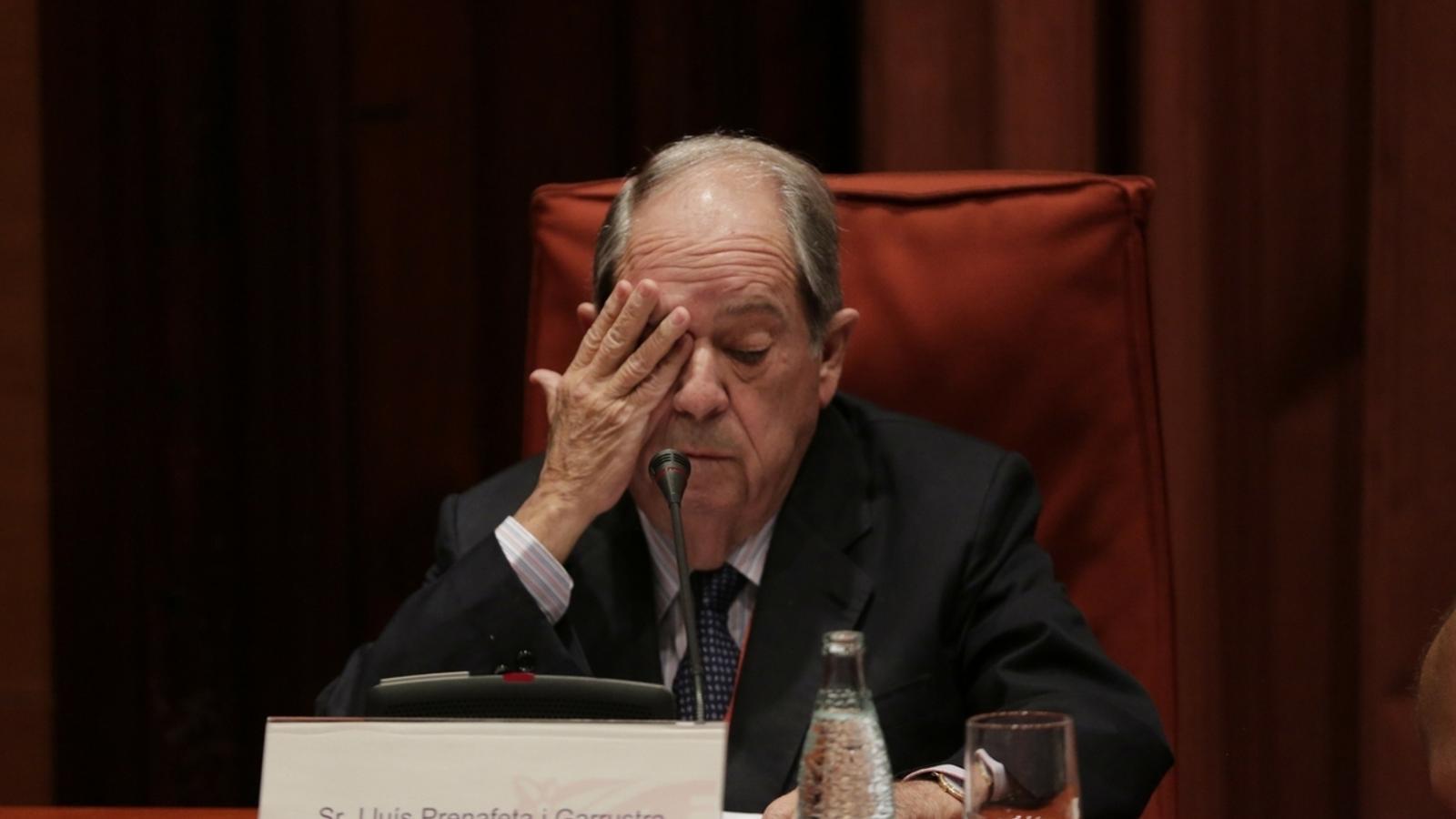 Lluís Prenafeta a la comissió d'investigació sobre el frau fiscal / CRISTINA CALDERER