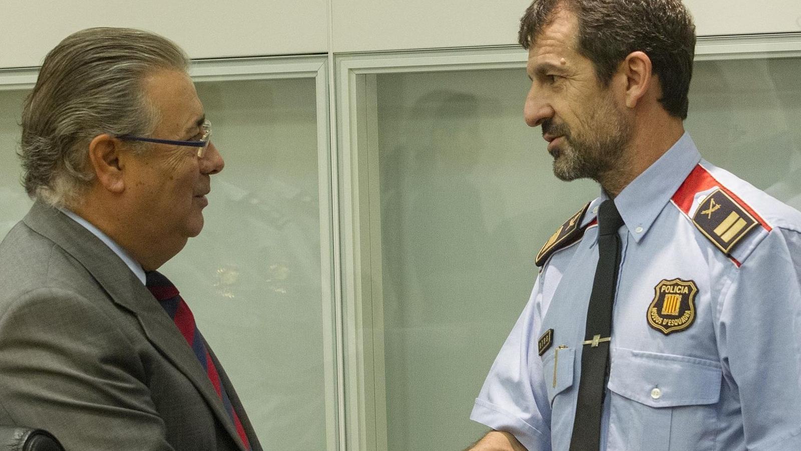 Juan Ignacio Zoido i Ferran López, quan el ministre el va nomenar màxim responsable dels Mossos