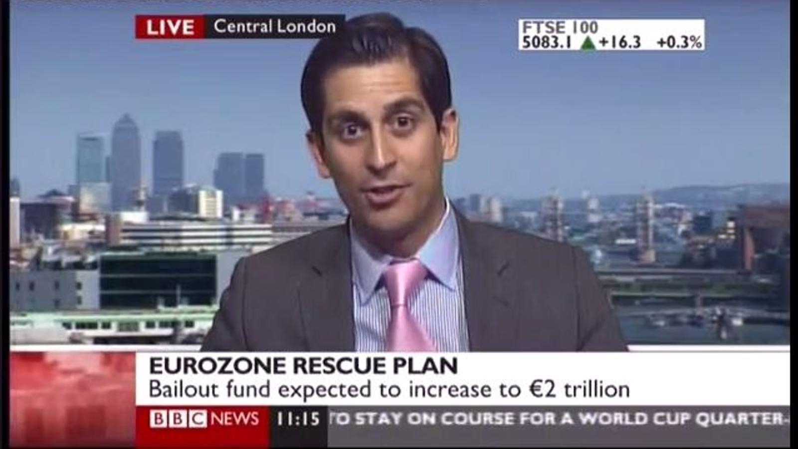 """Polèmica entrevista de la BBC a un especulador anglès: """"No ens importa que arreglin l'economia, la nostra feina és guanyar diners, i jo porto tres anys somniant amb aquesta crisi"""""""