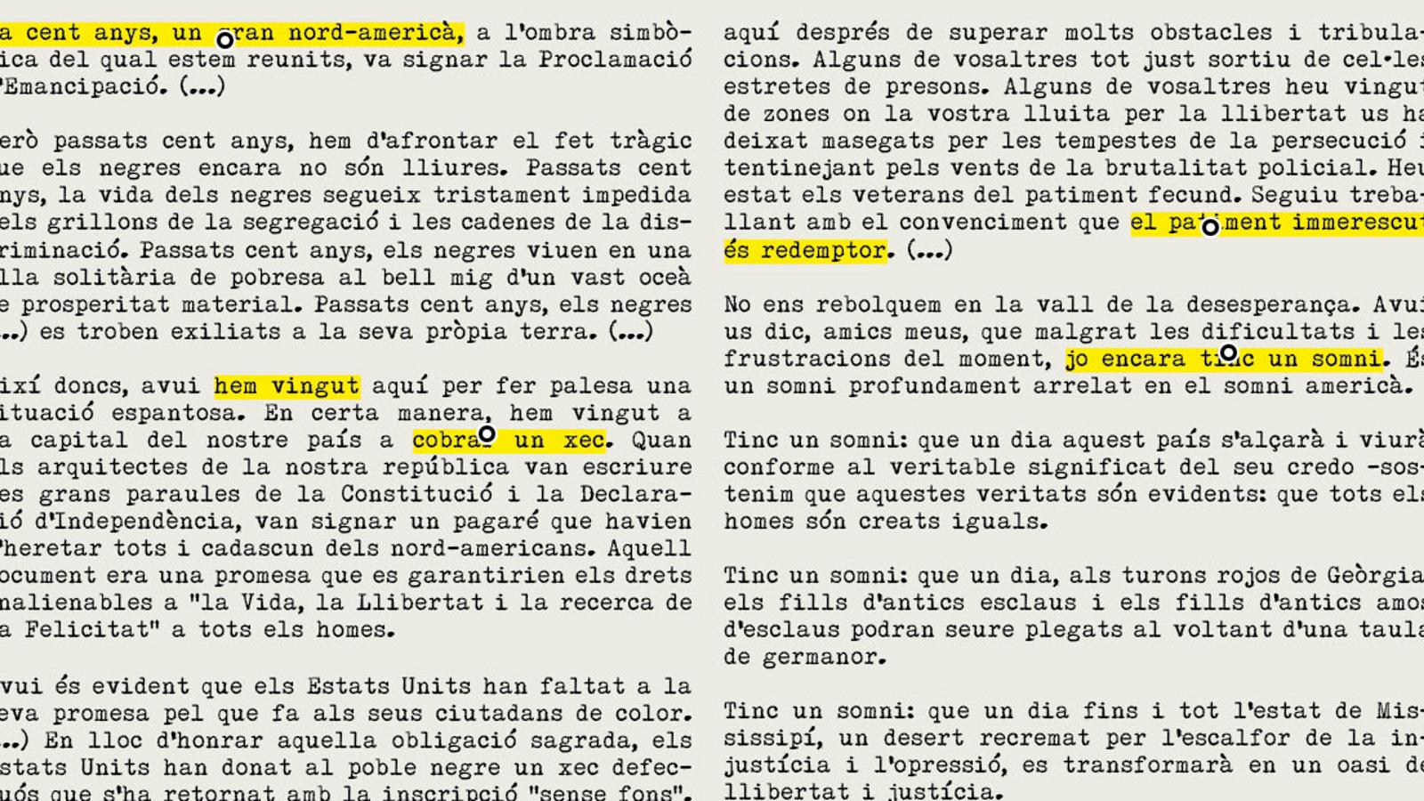 Llegiu el discurs més cèlebre de Luther King 'I have a dream', en català i amb comentaris