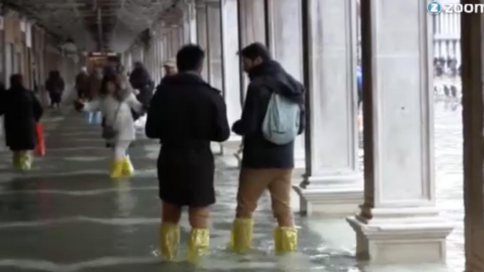 Així és Venècia amb 'acqua alta'