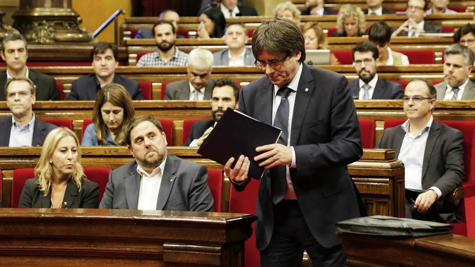 El Tribunal de Comptes obre causa contra Puigdemont i el seu Govern per l'1-O
