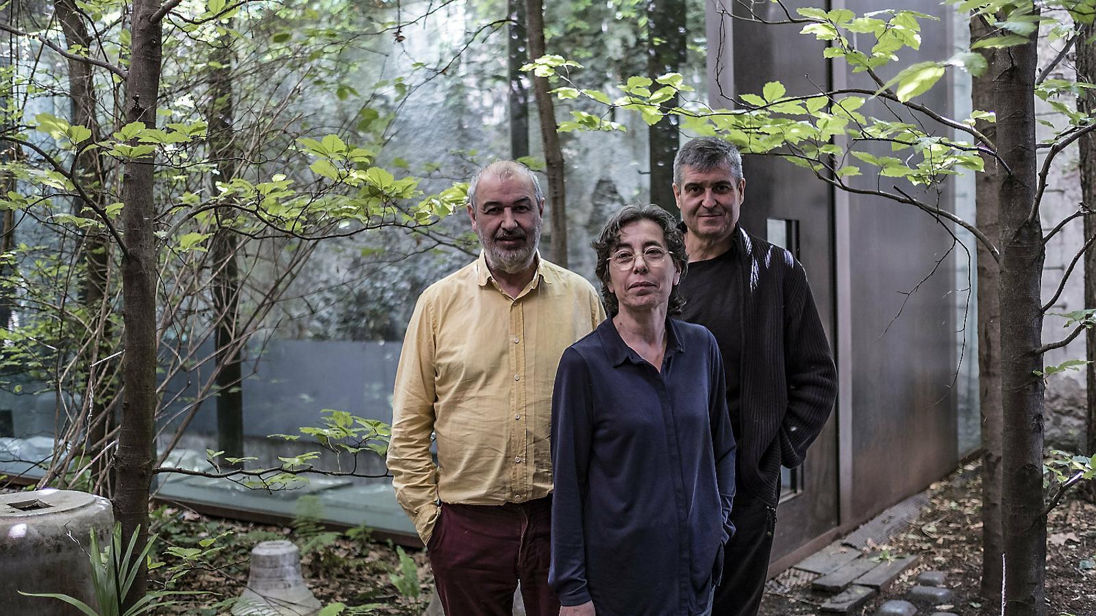 Ramon Vilalta, Carme Pigem i Rafael Aranda, els tres arquitectes de l'estudi RCR d'Olot.