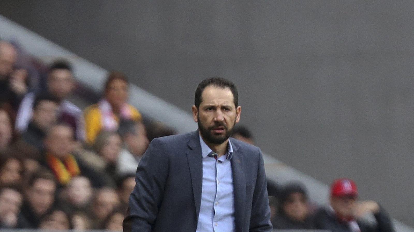 Pablo Machín, entrenador del Girona, durant el partit contra l'Atlètic de Madrid