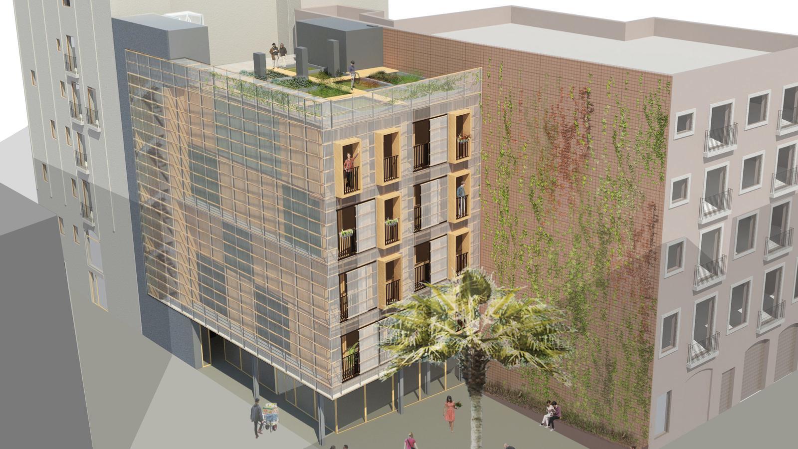 Barcelona construirà pisos de lloguer prefabricats per a 250 persones