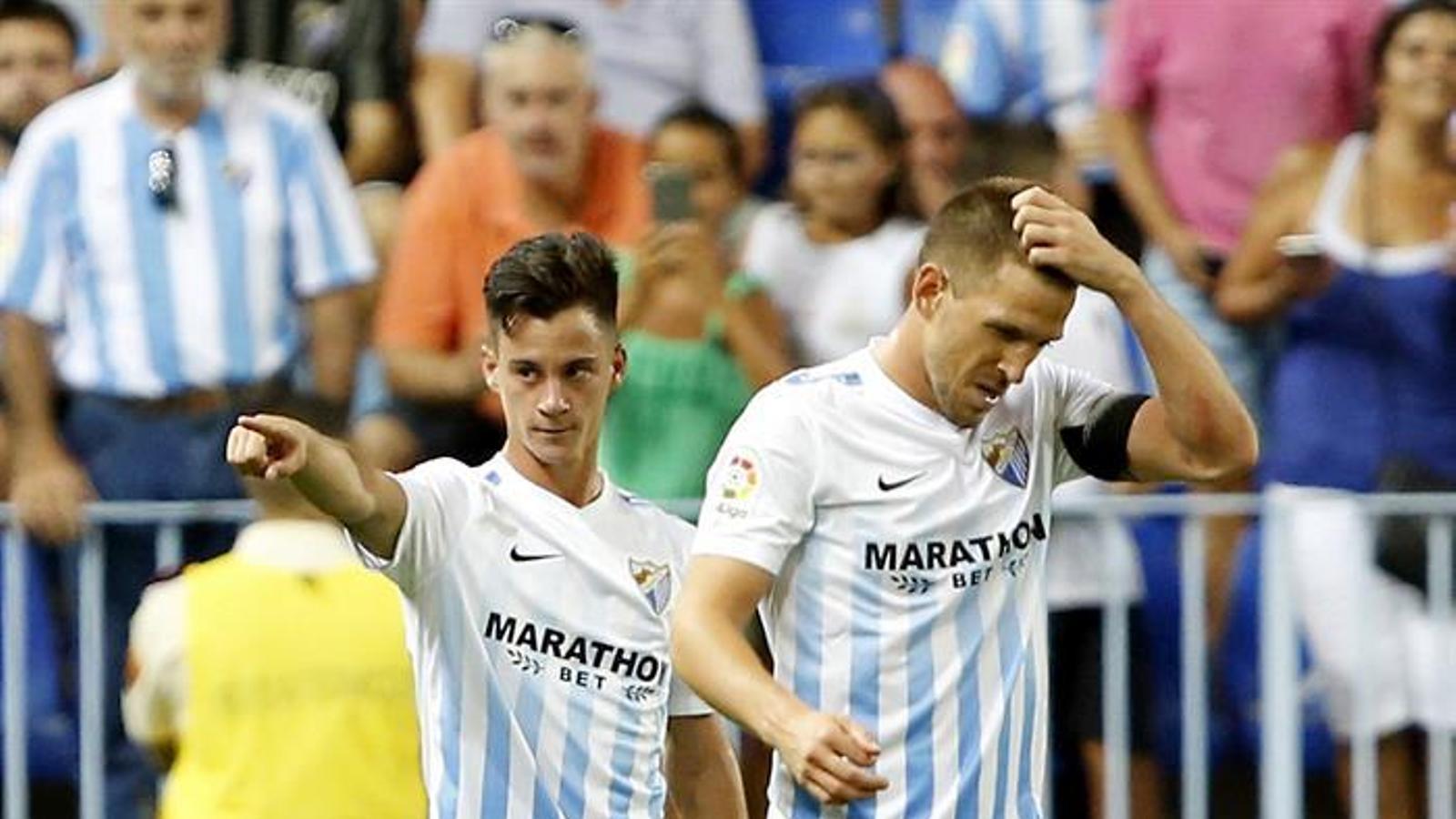 Juanpi celebra el primer gol de la lliga 2016-17