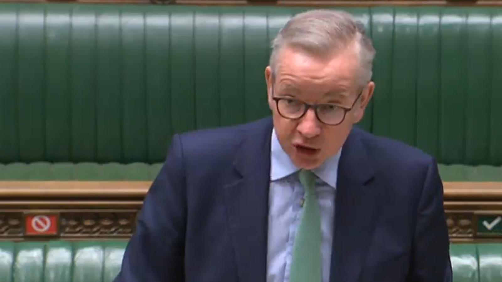 El ministre Michael Gove, intervenint aquest dimecres a la cambra dels Comuns