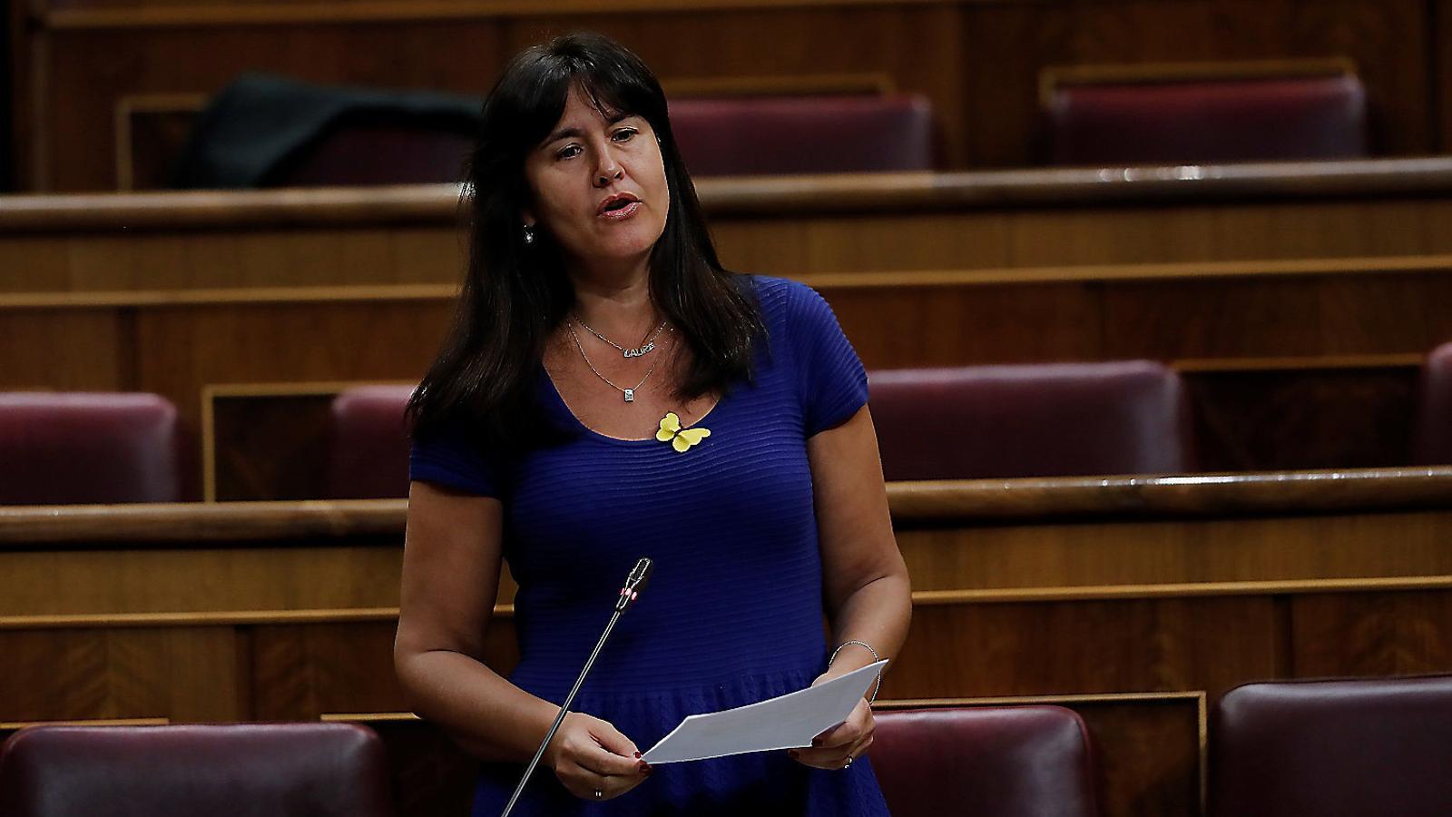 La portaveu de JxCat al Congrés, Laura Borràs, en una intervenció.