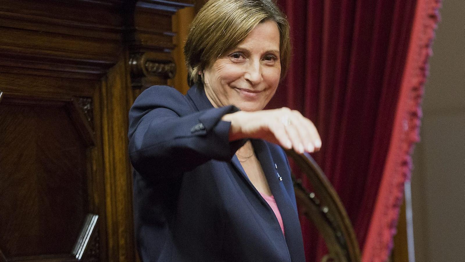 Carme Forcadell, presidenta del Parlament de Catalunya, podria ser la primera a ser inhabilitada pel TC.