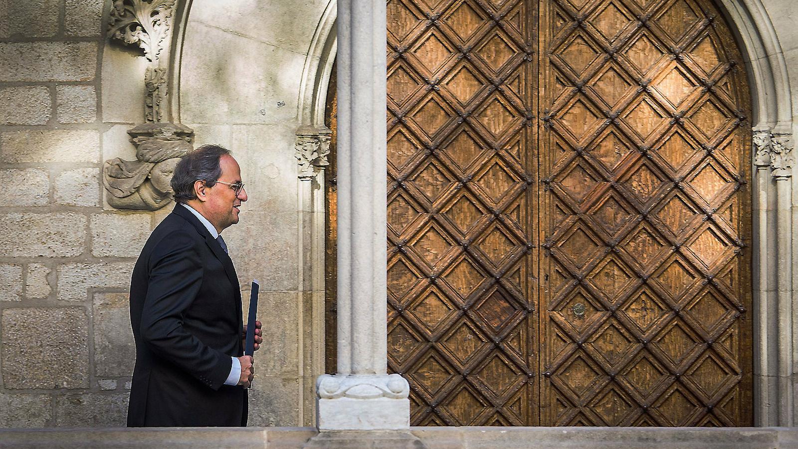 El president, Quim Torra, el dia que es va reunir amb el president espanyol, Pedro Sánchez.