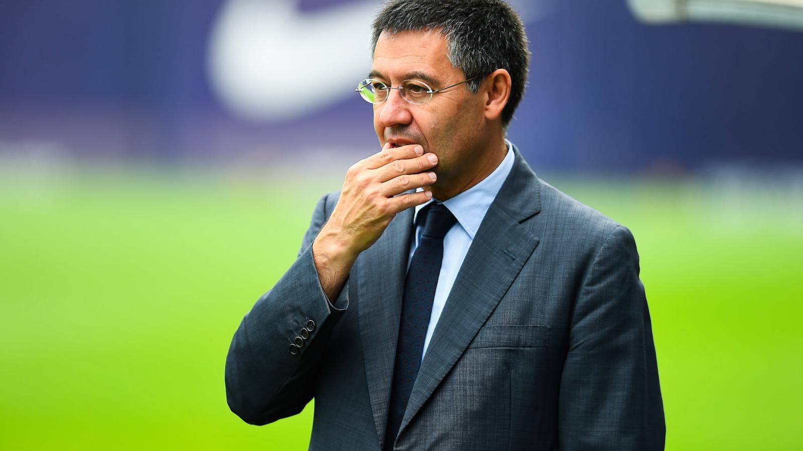 Bartomeu durant el seu primer any com a president del Barça, quan va agafar el relleu de Sandro Rosell.