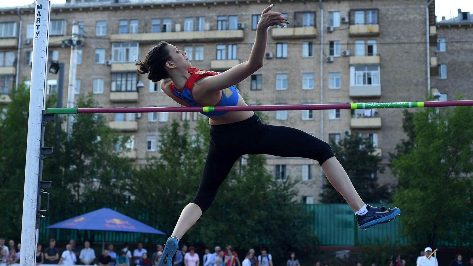 La saltadora Maria Kútxina al campionat Estrelles 2016.
